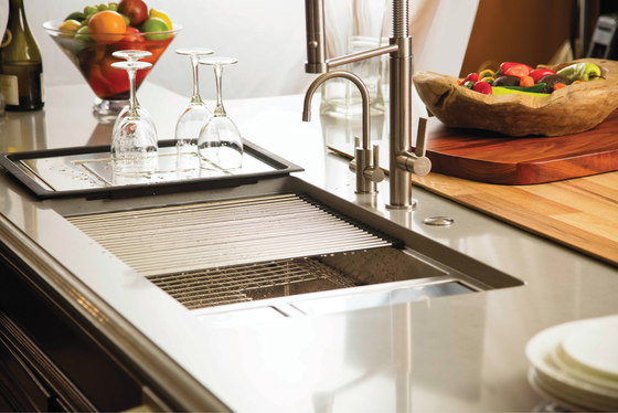 Accessory Sinks Cutting Board Glass Black by Franke Kitchen Systems