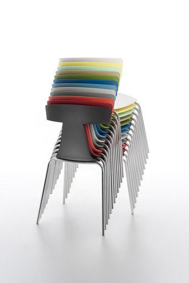 Remo Plastic Stuhl black von Plank