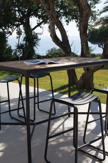 FOUR | Bar table 90x160 Aluminum by HOUE