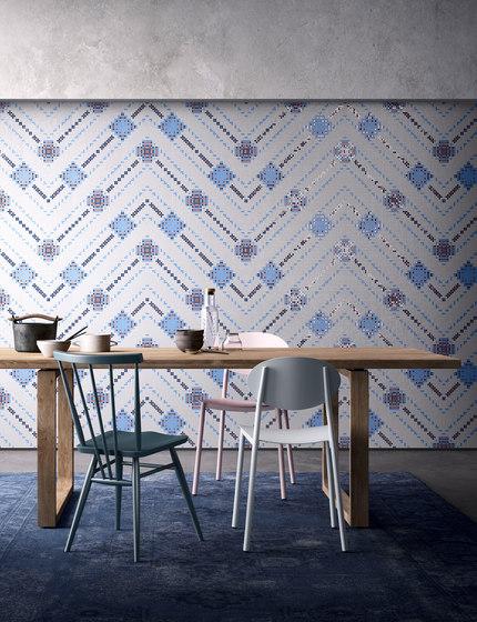 Decor Geometric | Overlap White Gold 10x10 by Mosaico+