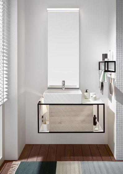 Junit | Ceramic washbasin incl. vanity unit de burgbad