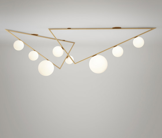 Triangle pendant globes 06 by Atelier Areti