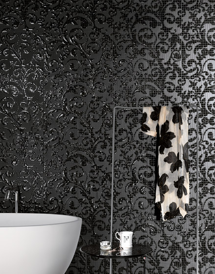 Fap Mosaici Dark Side Damasco Black Gloss di Fap Ceramiche