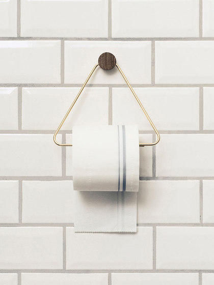 Toilet Paper Holder - Brass by ferm LIVING