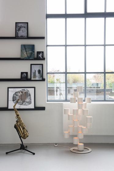 Twister black floor lamp de Tristan Frencken