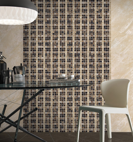 Mosaic Square LINE 12X12 | Type A by Gani Marble Tiles