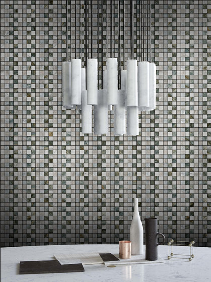Mosaic Square STRUCTURE 12X12 | Type H di Gani Marble Tiles