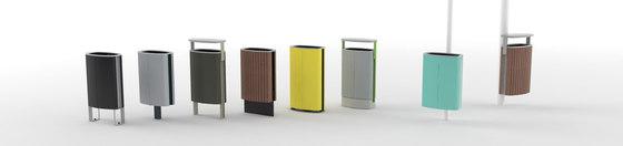 minium | Litter bin with wooden sheating di mmcité