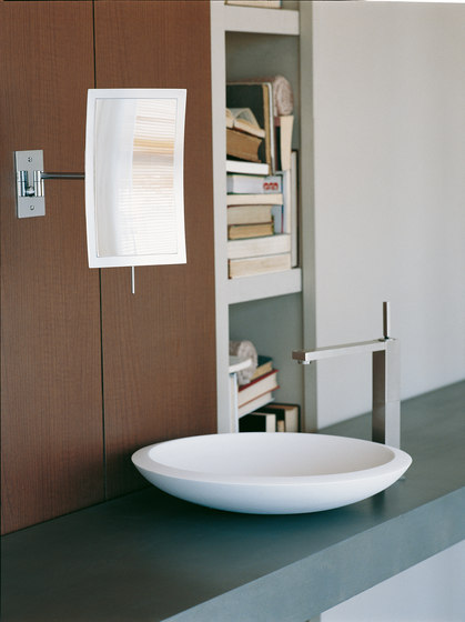 Illusion Free Standing Magnifying Mirror by Pomd'Or