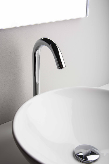 Aquaeco | Deck Mounted Infrared Mixer Tap Or Mains Operated by BAGNODESIGN