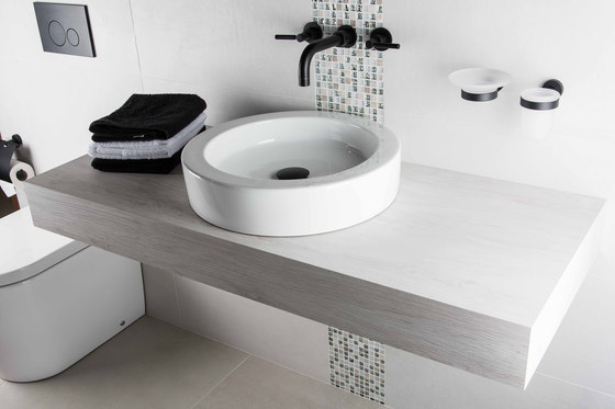 Corsair | Semi-Inset Wash Basin 1 Tap Hole With Overflow by BAGNODESIGN