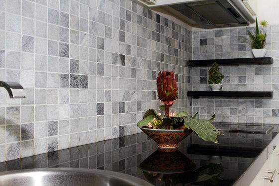 Classic Mosaic Squares - Silver Quartzite de Island Stone