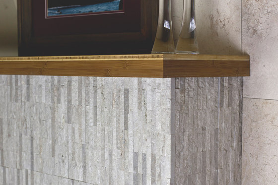 Mini Split - Budis Creme Marble Cladding by Island Stone