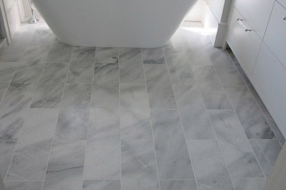 Solid Rectangles Ii Rice White Marble Honed Natural
