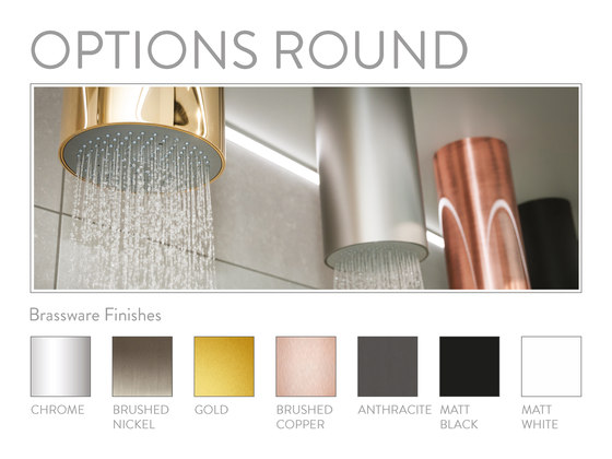 Options | Round Recessed Shower Head by BAGNODESIGN