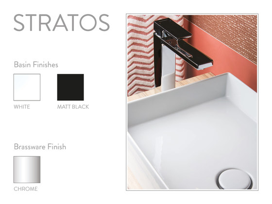 Stratos | Countertop Basin 450X380mm by BAGNODESIGN