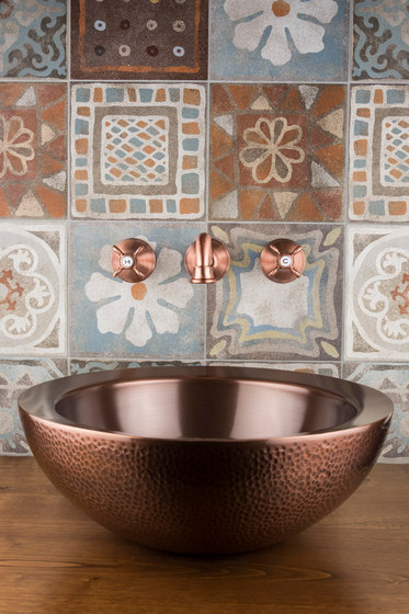 Vintage Collection | Polperro Inset Copper Wash Basin by BAGNODESIGN