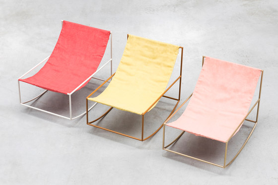 rocking chair | red_leather by valerie_objects