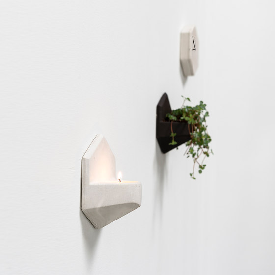 MonoClock   Concrete Light Grey de Valence Design