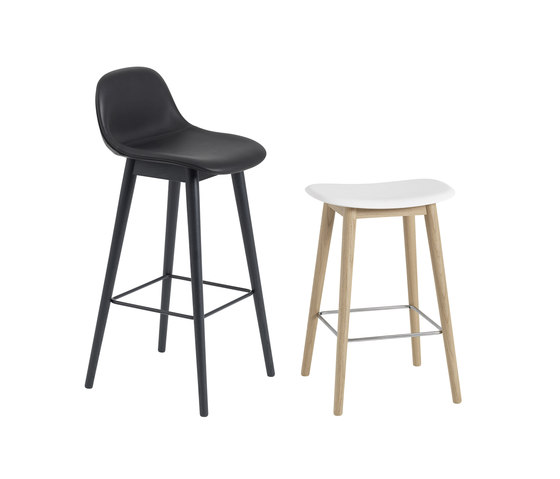 Fiber Counter Stool | Wood Base by Muuto
