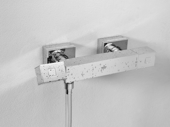 Grohtherm Cube Thermostat with integrated 2-way diverter by GROHE