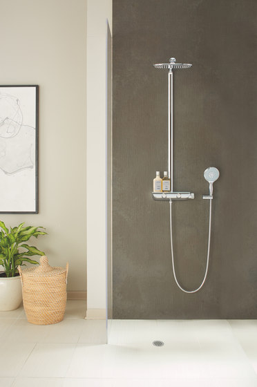 Rainshower System SmartControl 360 Mono with thermostat for wall mounting by GROHE