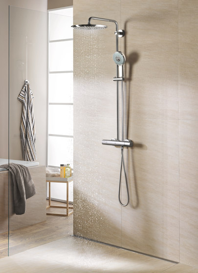 rainshower system 400 colonne de douche thermostatique douche robinetterie de douche de grohe. Black Bedroom Furniture Sets. Home Design Ideas