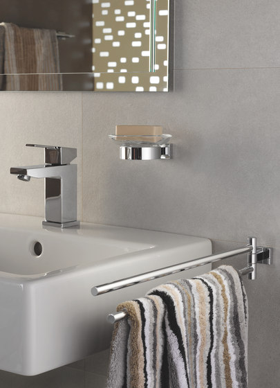 Essentials Cube Towel ring by GROHE