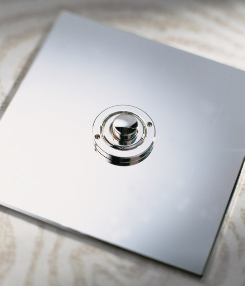 Invisible Lightswitch® with Stainless Steel button dimmer di Forbes & Lomax