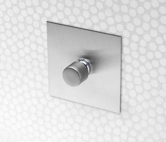 Invisible Lightswitch® with Nickel Silver rotary dimmer by Forbes & Lomax