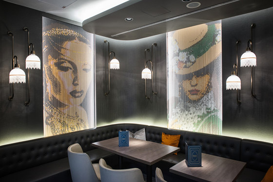 Wallcovering Straight Restaurant Images de Kriskadecor