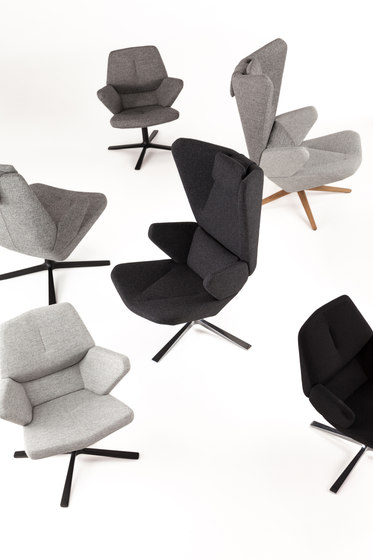 Trifidae lounge chair leather by Prostoria