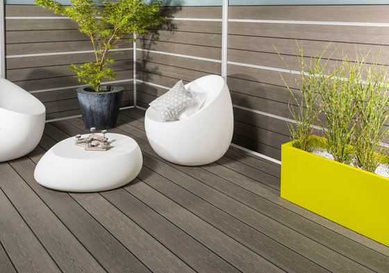 Elegance | Smooth Decking Board - Iroise grey by Silvadec