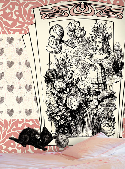 Alice and the black kitten de WallPepper