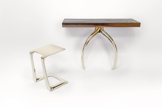 Wishbone Series Console - Aluminum by STACKLAB