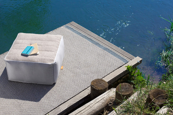 Accessories | Site Soft Checks Outdoor pouf by Warli