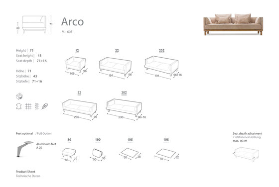 Arco Relax Sofa by Extraform