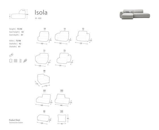 Isola Sofa by Extraform
