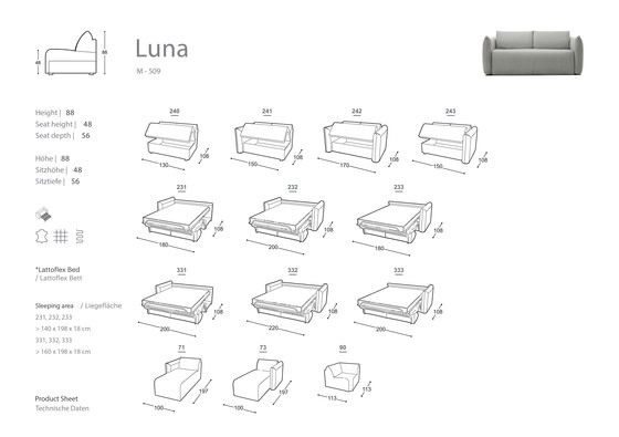 Luna Sofa Bed by Extraform