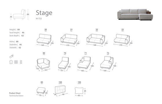 Stage Sofa by Extraform