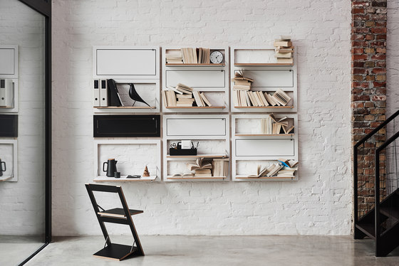 Fläpps Secretary Wall Desk | White by Ambivalenz