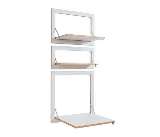 Fläpps Shelf 60x27-1 | Watercolor Stripes by Kind of Style by Ambivalenz