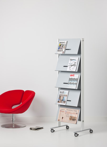 Round20 Wall panel brochure holder by Cascando