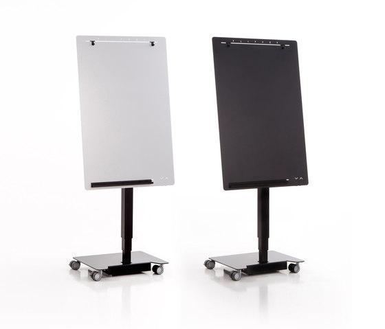 Elektrisch höhenverstellbares, mobiles Flipchart Flipper by Inwerk