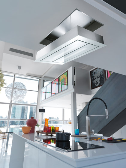 Maris Up and Down Hood FCUD 904 C WH RF UD Stainless Steel-Glass White by Franke Kitchen Systems