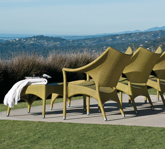AMARI HIGH BACK LOUNGE CHAIR + OTTOMAN by JANUS et Cie