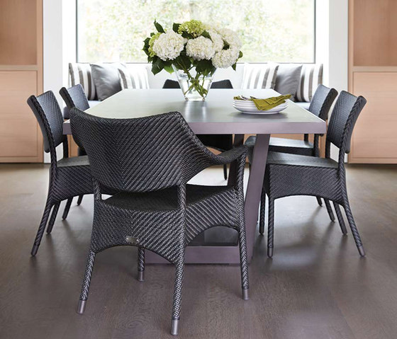 AMARI FULLY WOVEN DINING TABLE ROUND 90 di JANUS et Cie