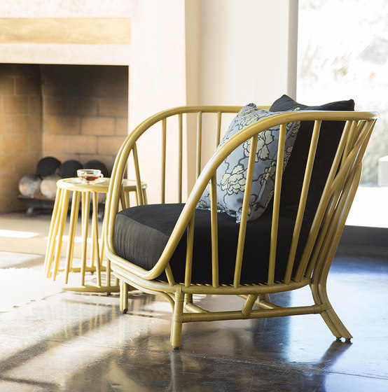 KYOTO RATTAN LOUNGE CHAIR & OTTOMAN by JANUS et Cie