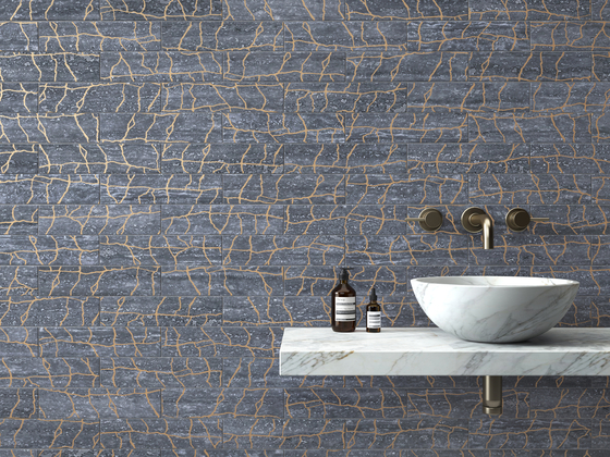 Kintsugi White Thassos Tiles by Claybrook Interiors Ltd.