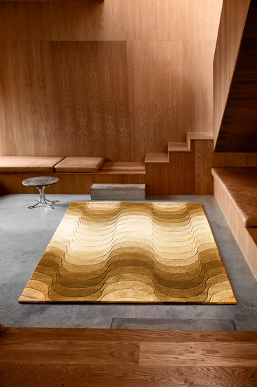 Wave Rug | Yellow by Verpan